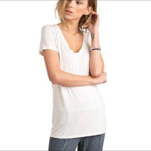 POL Crochet Detail V-Neck T-Shirt